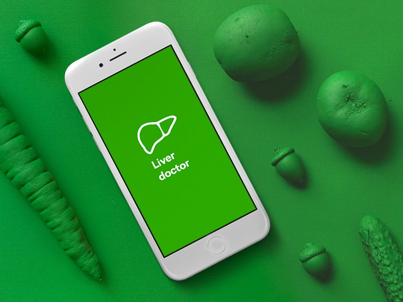 Liver Doctor presentation nature health vegetables green ui ux app