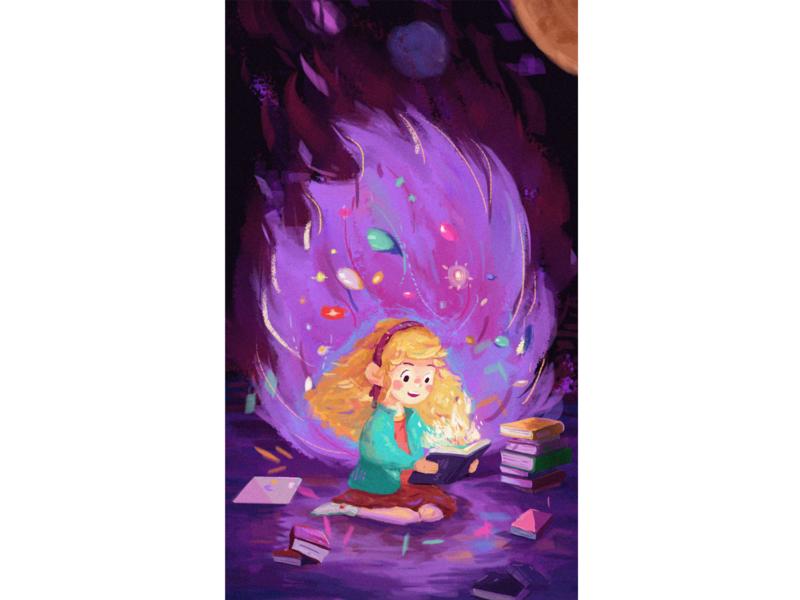 illustration -magic book illustration