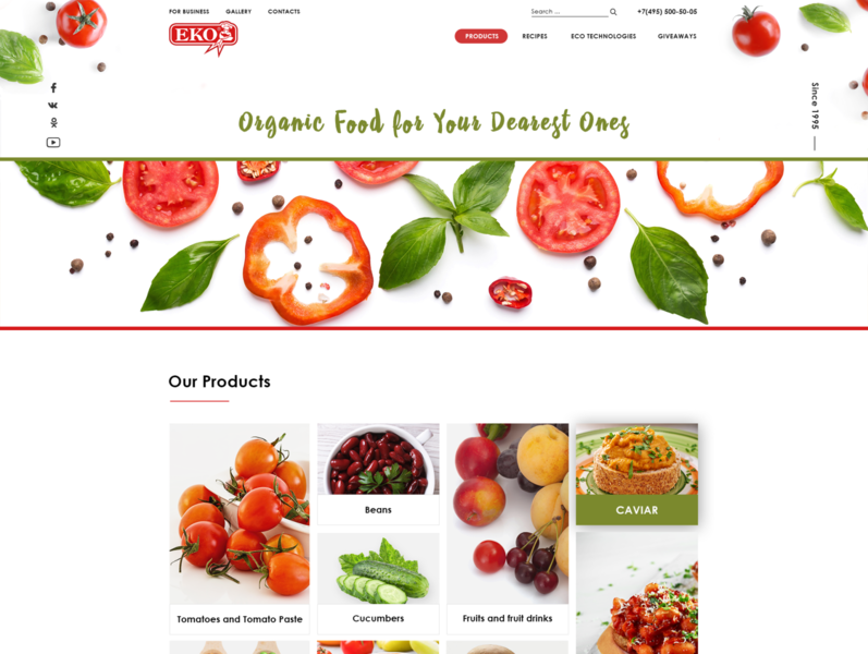 Multi-page canned food website