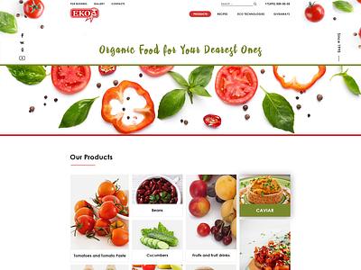 Multi-page canned food website photoshop multipage organic organic food eco eko testy designer ux ui webdesign testy design foodshop design