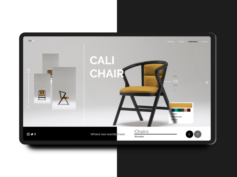 Furniture Landing Page website concept furniture website furniture flat ui daily ui app concept app design concept typography vector ux daily challange adobexd minimal icon web website landing page landing page concept