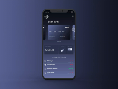 Financio App Animations typoraphy animation adobexd design vector icon bank finance daily challange ux interaction minimal app design design concept app app concept typography daily ui ui flat
