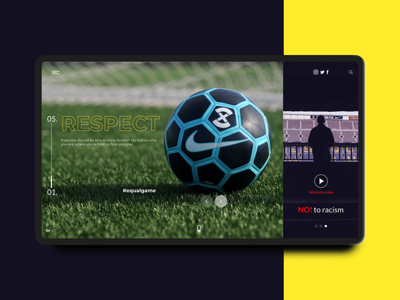 Football design web landing page concept adobe xd minimal app design icon football landing page website app ux app concept daily challange interaction design concept typography ui daily ui flat