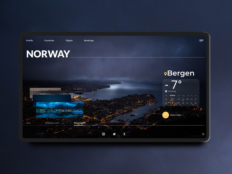 Explore Norway flat ui ux typography daily ui minimal web daily challange design concept travel norway explore booking adobexd landing page landing page design website design website icon vector