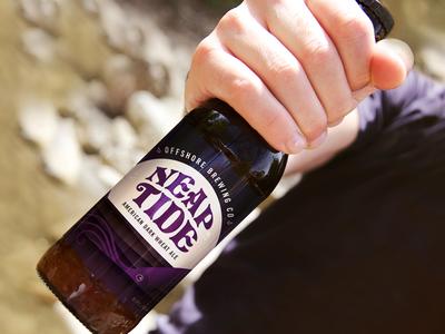 Neap Tide moon ocean ink squid bottle label beer illustration friendlydc friendlydesignhour friendlydesign