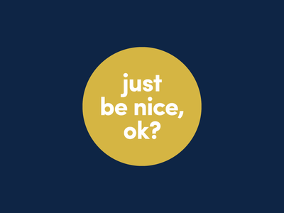 A Suggestion yellow question nonprofit donate lowercase type round kindness activism progressive sticker nice