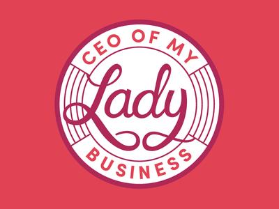 Girl Boss lettering sticker woman cursive custom type hand lettering march lady feminist feminism badge script