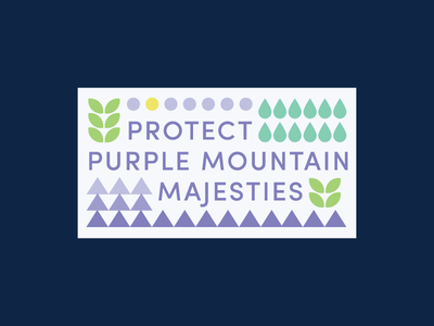 America the Beautiful nature purple sun leaves rain triangles circles geometric pattern sticker mountain