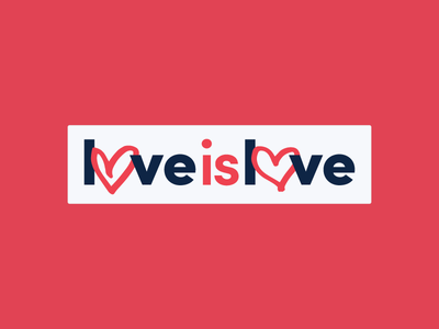 Love is Love hamilton sans serif lgbt protest sticker marker hand drawn heart love