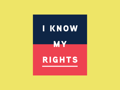 Knowledge is Power sans serif american protest patriotic sticker activism rights