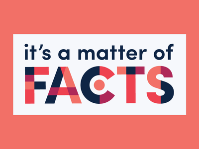 Facts Matter npr journalism america protest activism sticker sans serif typography geometric