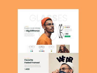 E-commerce Site Concept typography design ux web ui ecommerce shop ecommerce app store shop
