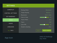 Daily UI Design Challenge #007 - Settings