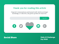 Daily UI Design Challenge #010 - Social Share