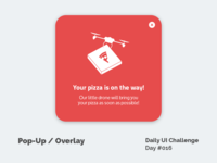 Daily UI Design Challenge #016 - Pop-Up / Overlay