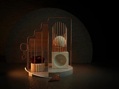 3D scene studio c4d cinema4d render 3d artist scene 3d design