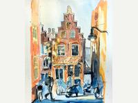 Amsterdam street. Sunpatches