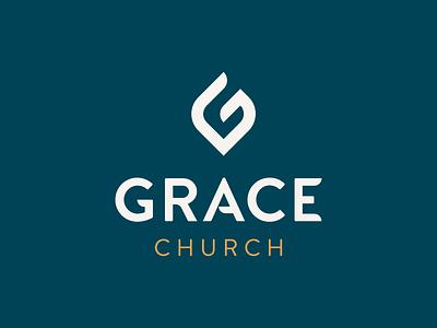 Grace Church Logo logotype logo design branding system logo