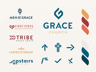 Grace Church Branding color palette logos styleguide branding system