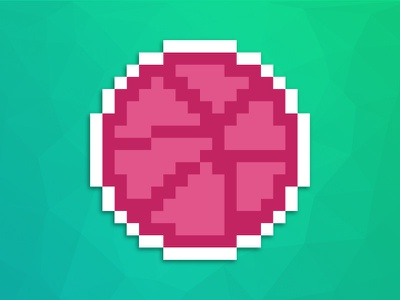 16 Bit Dribbble sticker dribbble bit 16