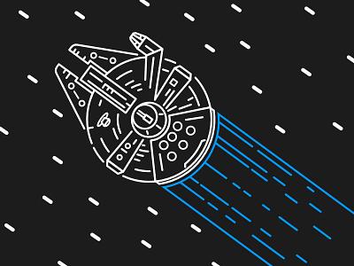 Millenium Falcon fiction solo ship space star wars