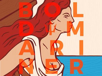 Bold Mariner Poster illustration nautical beer art beer poster
