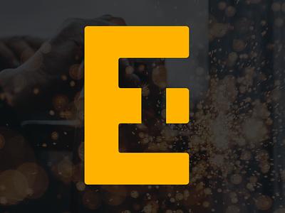 Earth & Iron monogram lettering logo construction