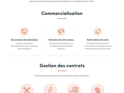 Evollis rebranding — 2018 blog homepage leasing corporate webdesign ui design