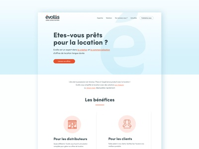 Evollis rebranding — 2018 blog homepage leasing corporate webdesign ui design
