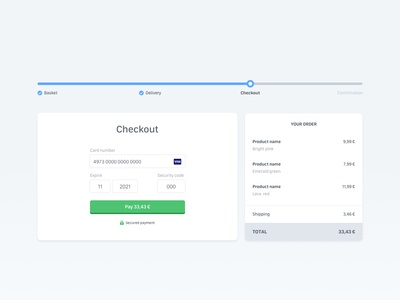 Daily UI — #002 breadcrumb ui design dailyui 002 dailyui basket credit card checkout web