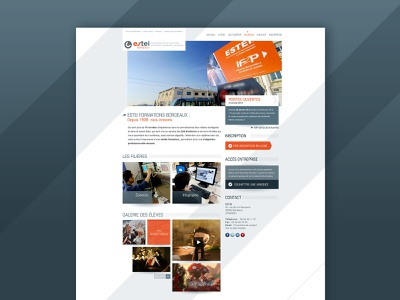ESTEI — 2013 graphic design corporate design corporate school webdesign homepage ui design