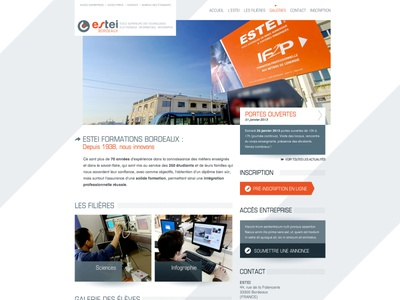 ESTEI — 2013 graphic design corporate design corporate school webdesign homepage ui design