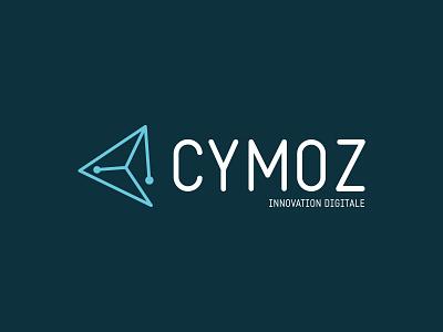 Cymoz — 2014 brand design branding uppercase blue linear icons linear web agency logo