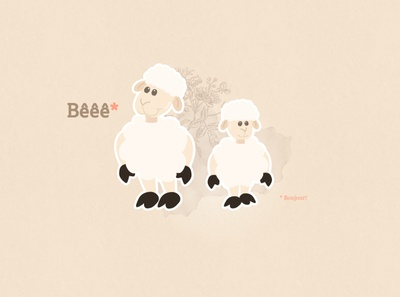 Cute sheeps wallpaper cute animal vector illustration beige pink cute sheep wallpaper