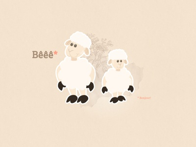 Cute sheeps wallpaper cute animal vector illustration beige pink cute sheep wallpaper