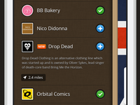 Fidel App - Menu app london startup linnen button texture ui ios
