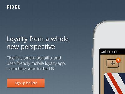Fidel App - Website Release london website texture button ui startup iphone app