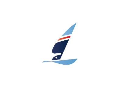 SailracingParts logo design blue yacht boat seagull wing sea sail take a closer look bird