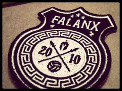 Falanx Soccer Badge stitches badge soccer logo design belgium