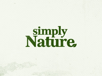 Simply Nature logo design branding clean minimal nature typography