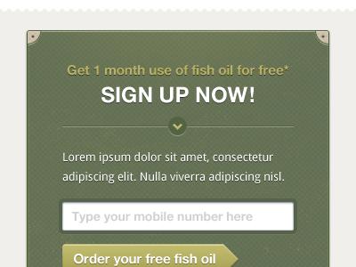 Sign Up Box ui form button interface design web texture