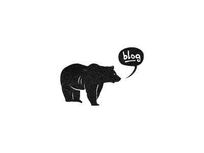 Björn's Blog logo bjorn bear blog illustration branding identity