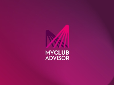 My Club Advisor logo branding rays club identity negative space