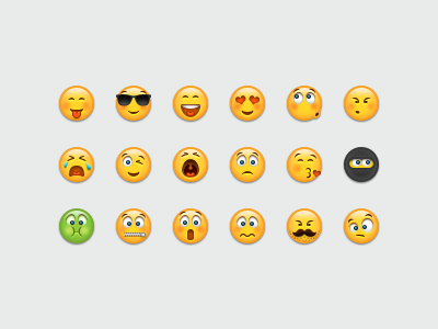 Yellow Faces smileys emoticons