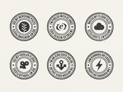 Social Stamp Collection texture ui grunge webdesign badge stamp social media belgium awesome