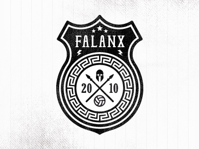Falanx Soccer Badge (v2) logo texture design grunge badge football soccer greek spartan
