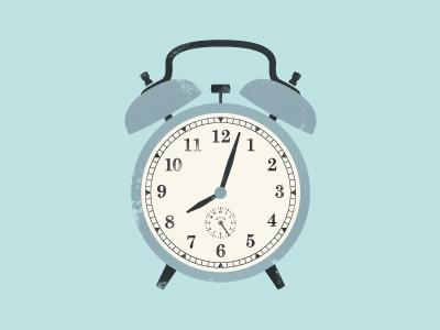 In The Morning blue illustration grunge texture vintage retro clock alarm desktop wallpaper noise art belgium