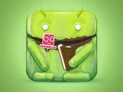 Best Android Appz icon icon character illustration android ice cream ice cream sandwich chocolate lollipop apps app icons