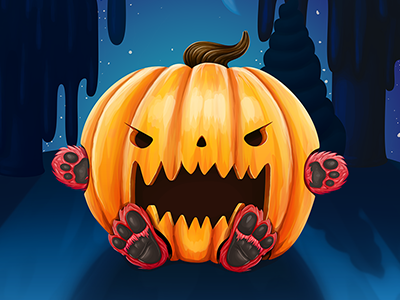 A very spooky Halloween appidemia illustration illustrations character halloween holiday night pumpkin stars