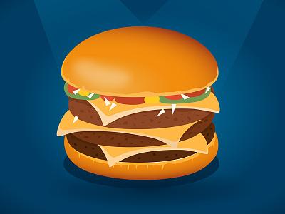 Triple Cheeseburger Animation for McDonald's mcdonalds illustration frame cucumber animation  cheeseburger
